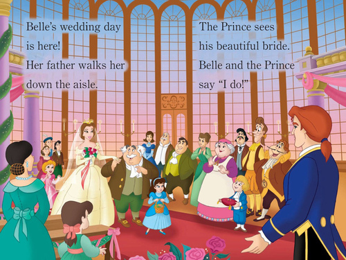 Beauty and the Beast wallpaper titled Belle's Wedding in Disney Princesses Beautiful Brides