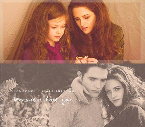Bella and Renesmee, Edward and Bella