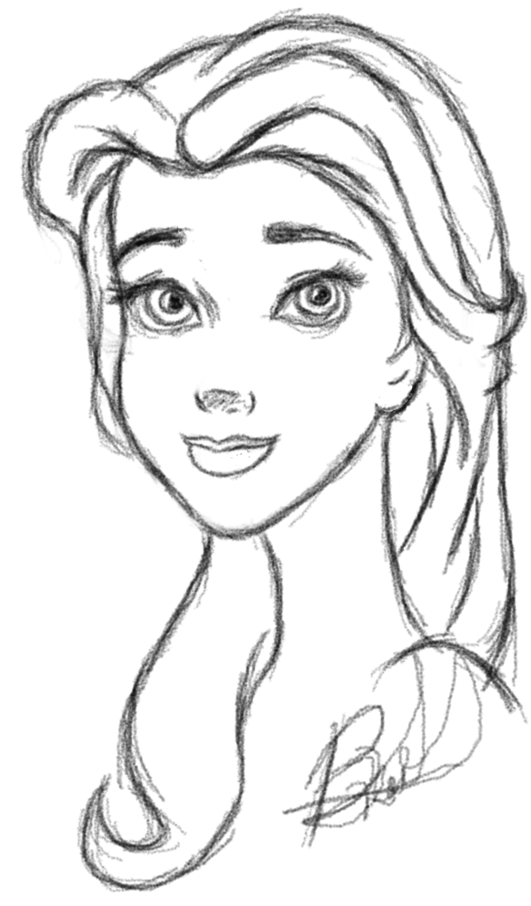 Gallery For gt Disney Princess Belle Sketches