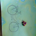 Bicycle drawing  - drawing photo