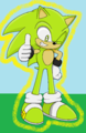 Boom the Hedgehog (Thumbs up) - sonic-fan-characters-recolors-are-allowed fan art