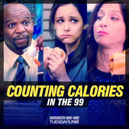 Brooklyn Nine-Nine দেওয়ালপত্র titled counting calories in the 99