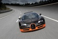 Bugatti Veyron setting speed record Super Sport model
