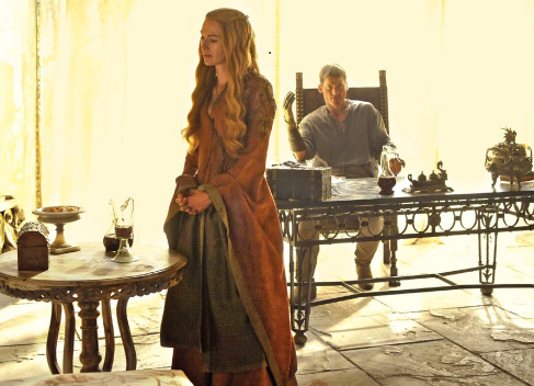 House Lannister wolpeyper possibly with a balahibo amerikana titled Cersei and Jaime