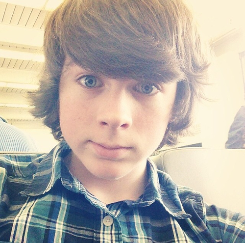 chandler riggs wallpaper possibly containing a portrait entitled Chandler selfie :)
