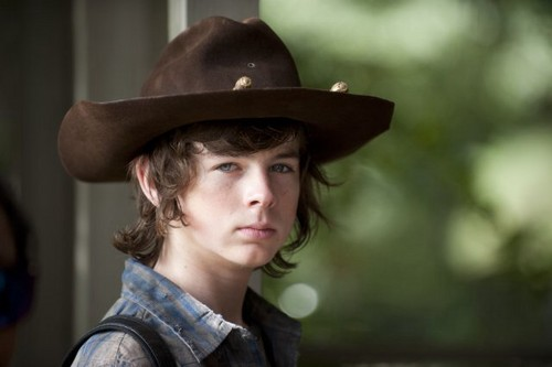 Chandler Riggs wallpaper containing a snap brim hat, a campaign hat, and a fedora called Chandler :)