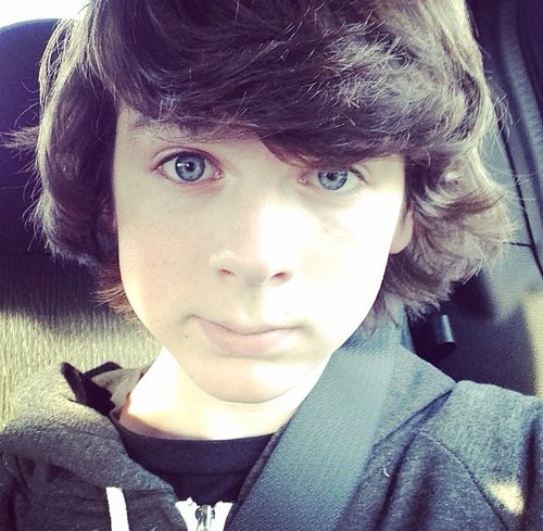 Chandler Riggs Hintergrund entitled Chandler :) he is so cute!!! ❤