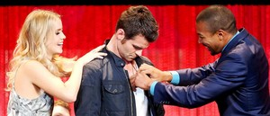 Charles, Daniel and Claire at PaleyFest 2014