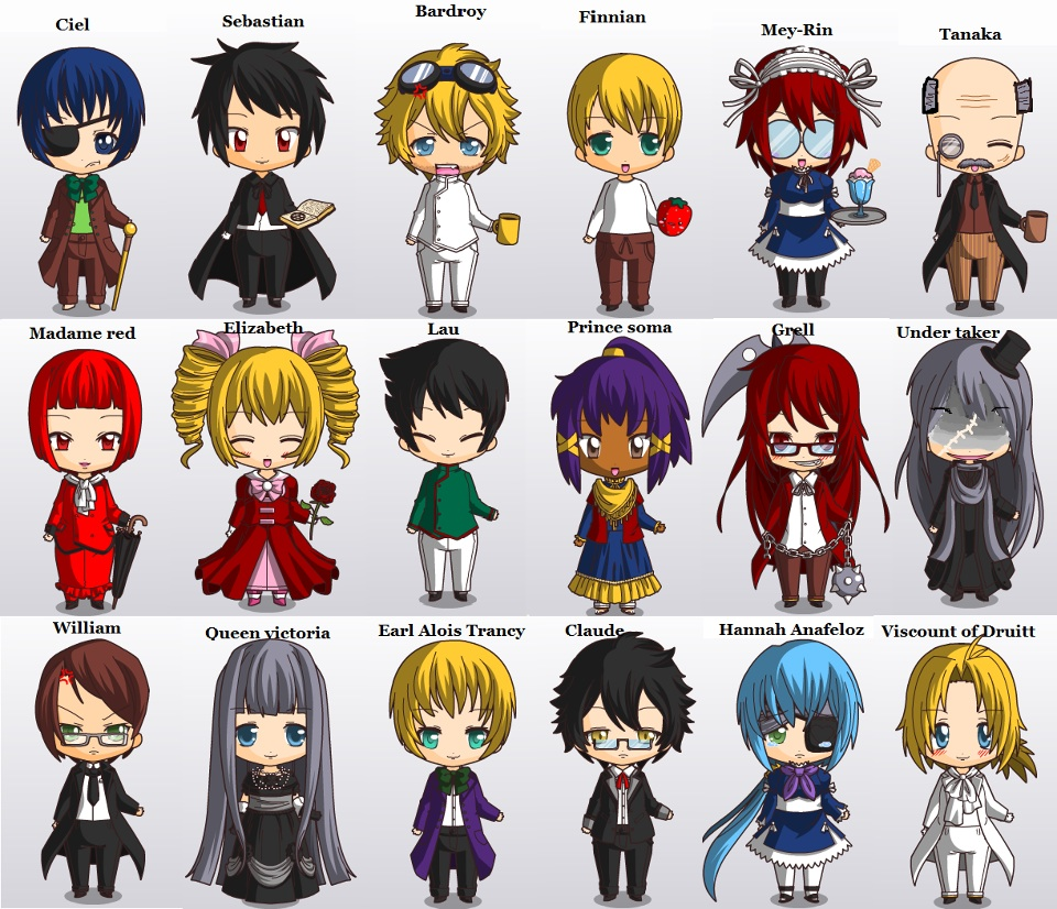 Tyger002 images Chibi Black Butler Cast HD wallpaper and ...