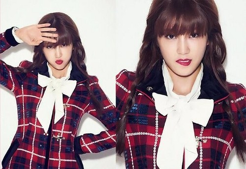 Korea Girls Group A Pink wallpaper possibly with a well dressed person, an outerwear, and a blouse titled Chorong - Apink 4th Mini Album 'PINK BLOSSOM'