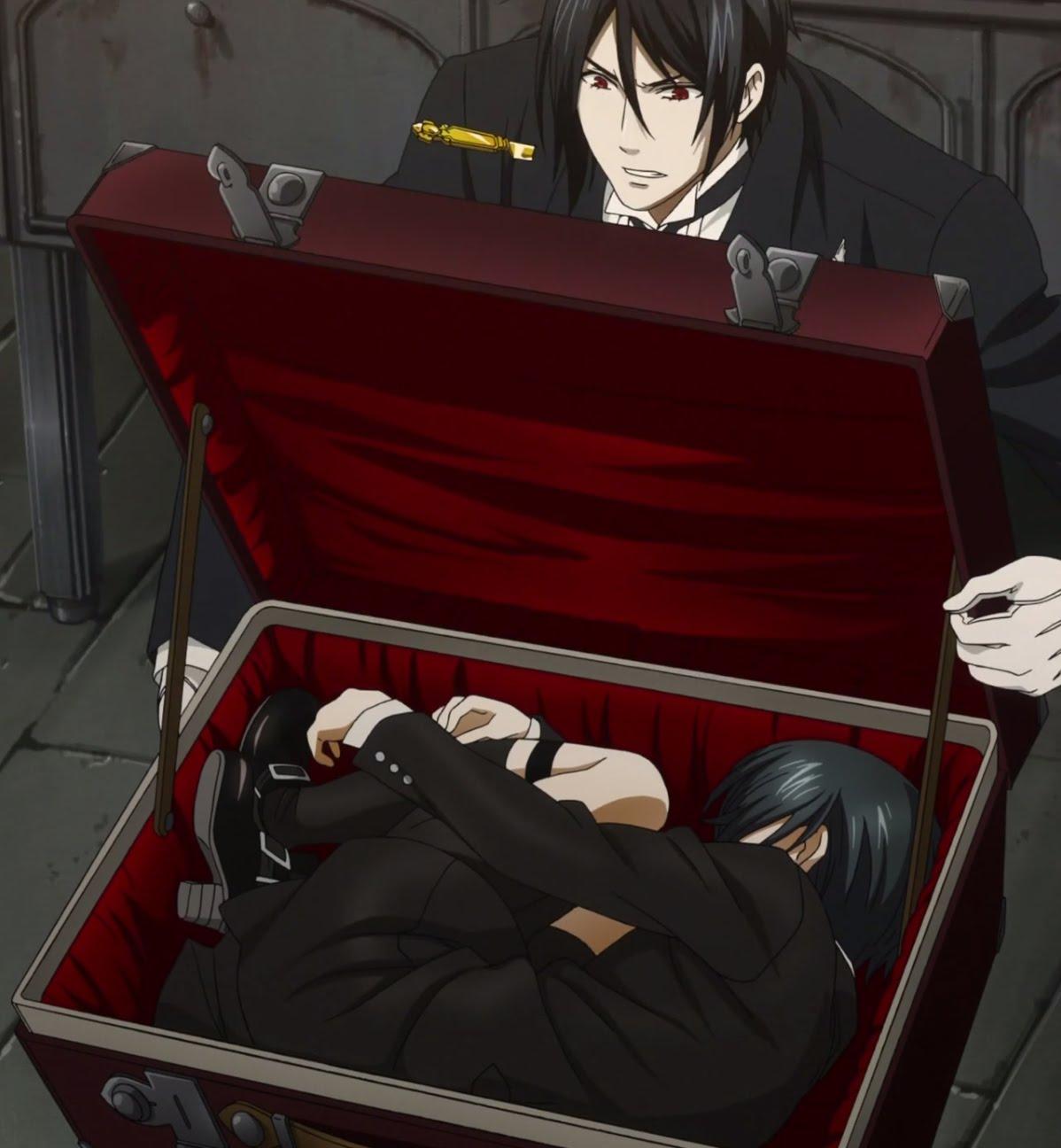 Ciel in a suit case