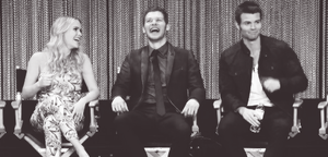 Claire Holt, Joseph مورگن and Daniel Gillies at the PaleyFest 2014