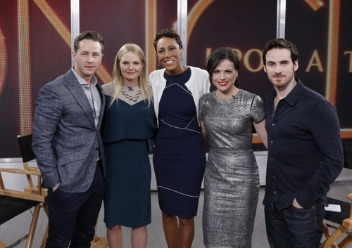 Colin O'Donoghue Hintergrund probably containing a well dressed person and a business suit titled OUAT Cast on Good Morning America