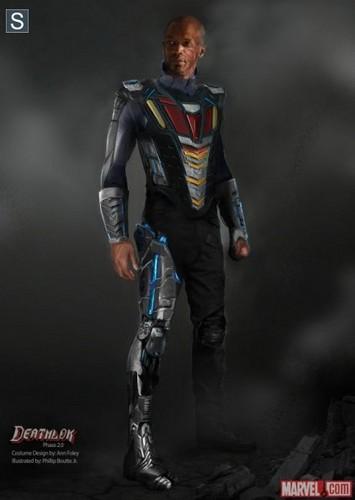 Agents of S.H.I.E.L.D. wallpaper probably with a shoulder pad entitled Deathlok Concept Art