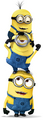 stacked up wall sticker - despicable-me-minions photo