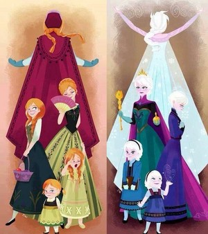 Elsa and Anna grow up