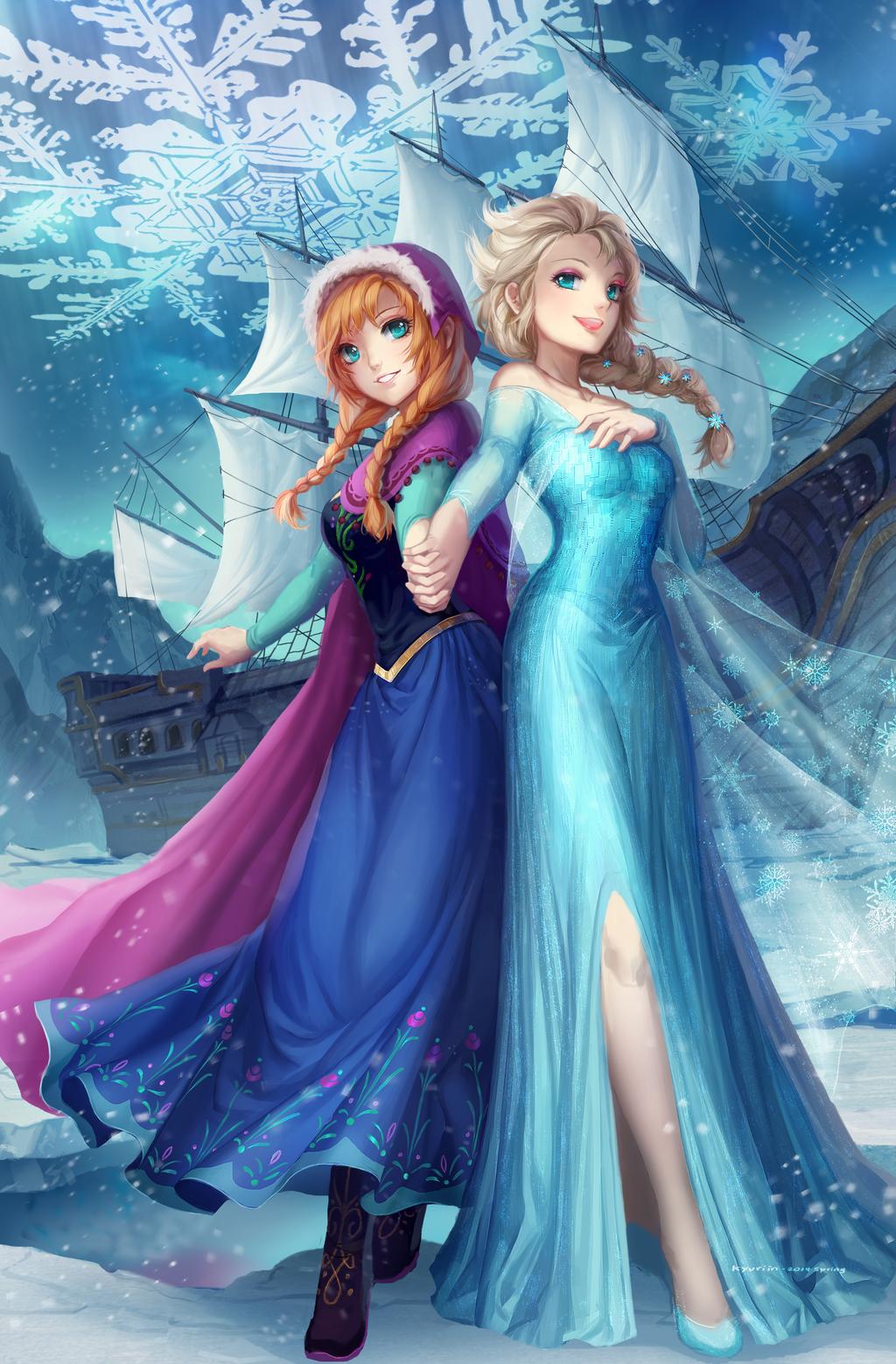elsa and anna disney princess