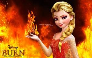 api, kebakaran Queen Elsa
