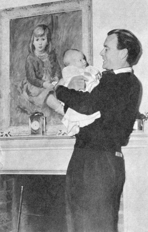disney actress hayley mills as a baby with her father