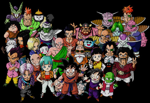 dragon ball z wallpaper probably with anime titled Dragon Ball Z Characters Group Picture