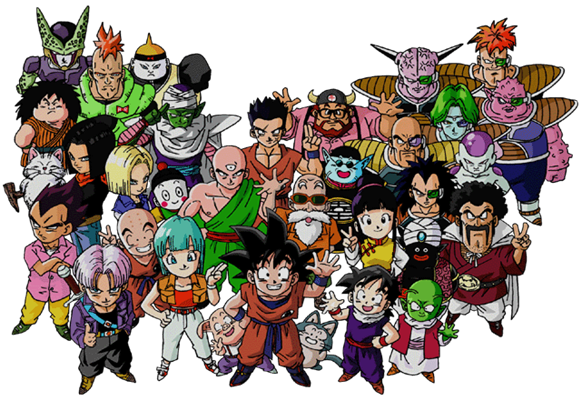 Dragon Ball Z Characters Group Picture