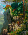 Dragon on the Cliffside - dragons photo