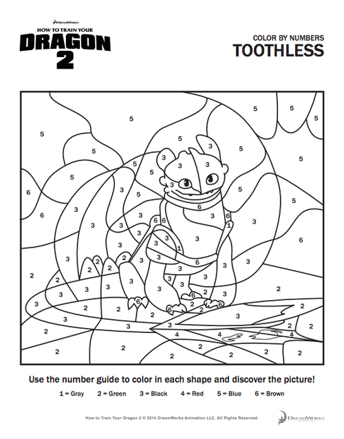 dragons 2 Coloring Pages