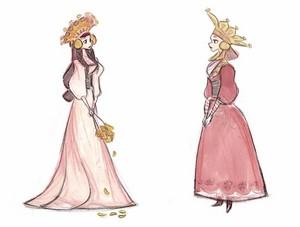 Early Nữ hoàng băng giá Concept Art