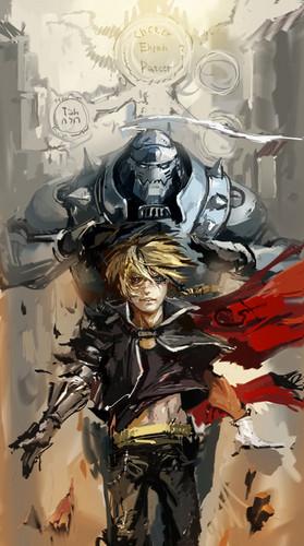Fullmetal Alchemist Brotherhood Edward And Alphonse Wallpaper