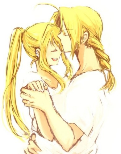 full metal alchemist couples wolpeyper with a red cabbage titled Edward and Winry
