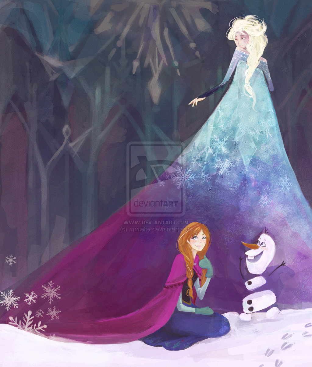 Elsa anna and olaf elsa and anna fan art 36851717 - Frozen anna and olaf ...