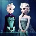 Elsa -- Before and After - disney-princess photo