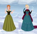 Elsa and Anna - disney-princess fan art