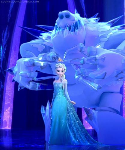 Холодное сердце Обои possibly containing a bridesmaid and a bouquet entitled Elsa and зефир