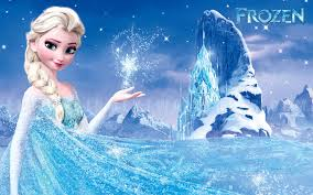 Elsa and her ice kingdom