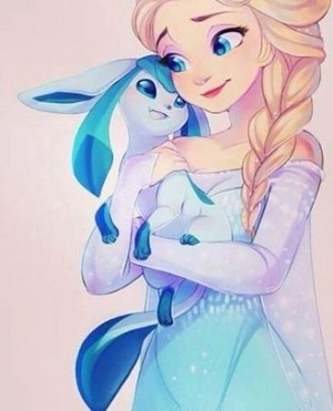 Elsa and her own pokemon pet