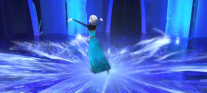 Elsa building her kasteel