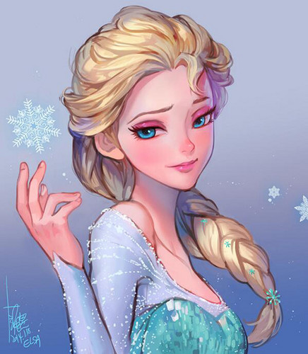 Elsa the Snow クイーン 壁紙 probably with a portrait called Elsa