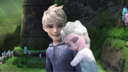 Elsa hugs Jack