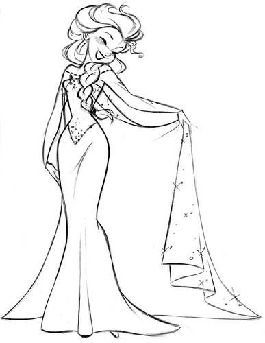 Elsa the Snow क्वीन वॉलपेपर called Elsa sketch