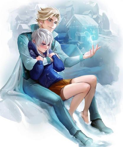 Elsa the Snow क्वीन वॉलपेपर entitled Jack and Elsa