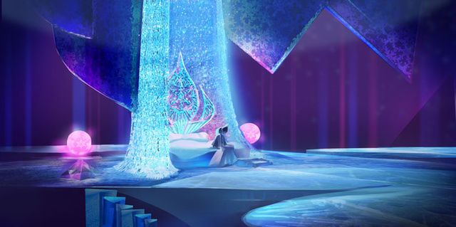 ফ্রোজেন - Ice Palace Concept Art