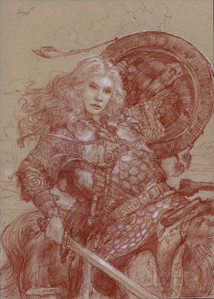 Eowyn: Shield Maiden of Rohan द्वारा Donato Giancola