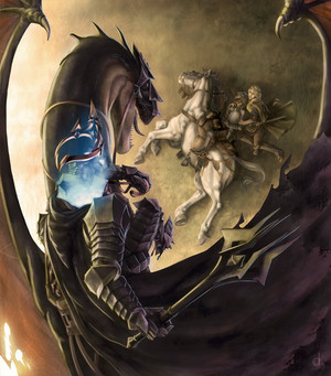 Eowyn and the Nazgul によって Jorge Carrero Roig