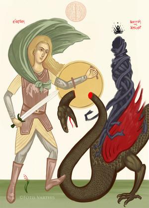 Eowyn, the Lady of the Shield-arm oleh Fotis Varthis