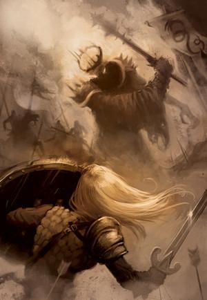 Eowyn vs Nazgul bởi Oliver Meinerding