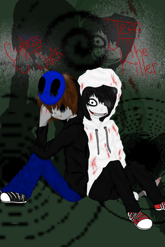 creepypasta پیپر وال with a sign titled EyelessJack