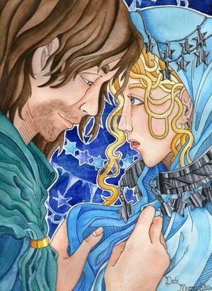 Faramir and Eowyn by DidiMamuska