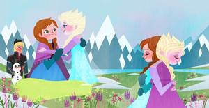 फ्रोज़न - Anna's Act of Love/Elsa's Icy Magic Book Illustrations