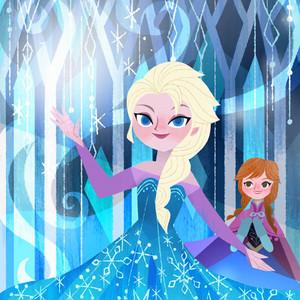 ফ্রোজেন - Anna's Act of Love/Elsa's Icy Magic Book Illustrations